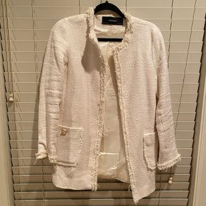 White tweed Zara jacket